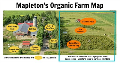 Mapleton's Farm Map of Attractions
