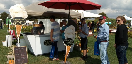 Mapleton's Organic ice cream booth at Outdoor Farm Show 2017