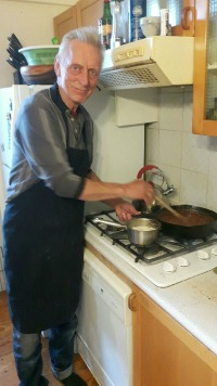 Martin cooking